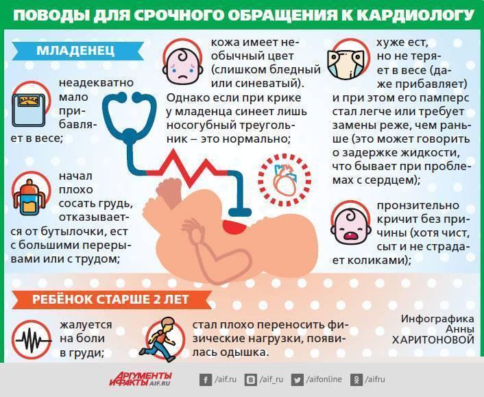 У ребенка шумы в сердце — что это такое, возможные причины