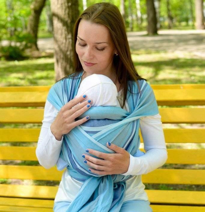 Как завязать слинг шарф для новорожденных