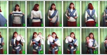 Как сшить слинг своими руками для новорожденного