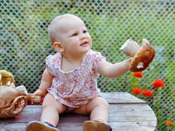 С какого возраста в рацион ребенка можно добавлять грибы