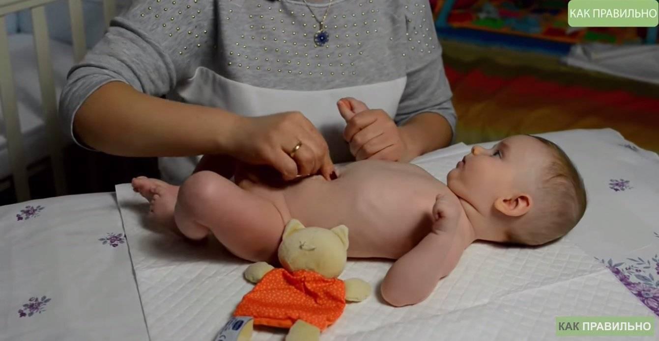 Как делать массаж ребенку в 2-3 месяца?