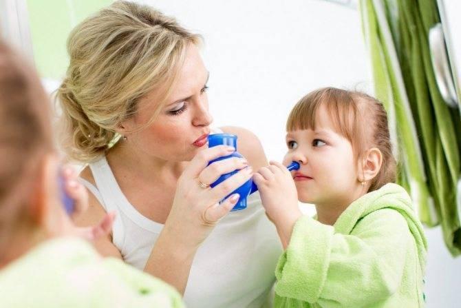 Чем промывать нос ребенку при насморке в домашних условиях