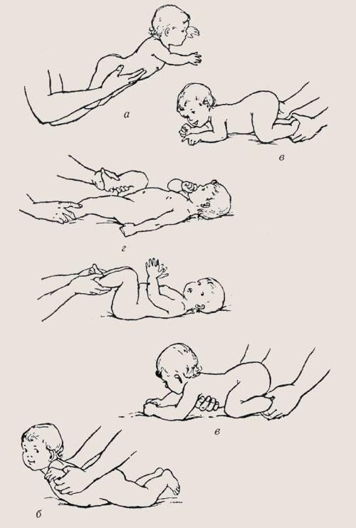 Гимнастика для малышей 3-6 месяцев