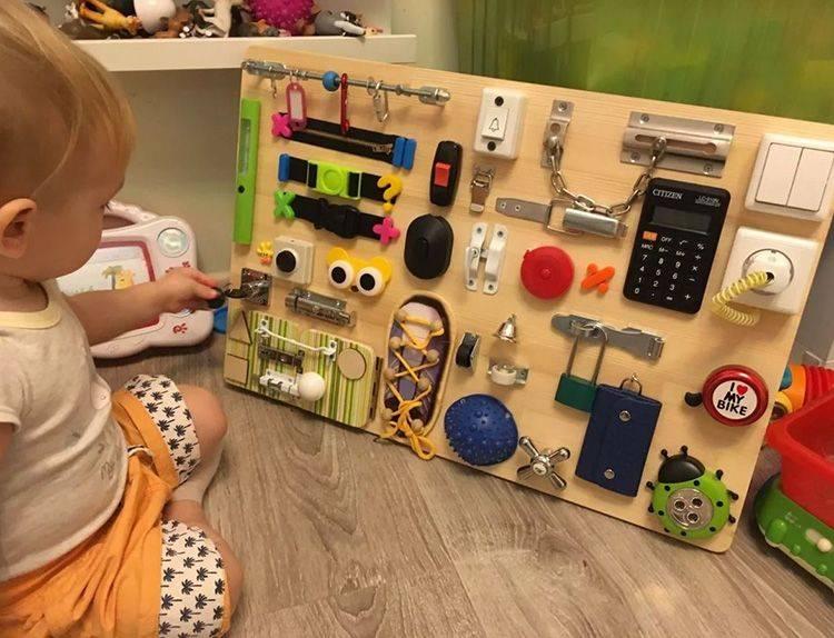 Как сделать бизиборд для ребенка легко своими руками - инструкция с фото