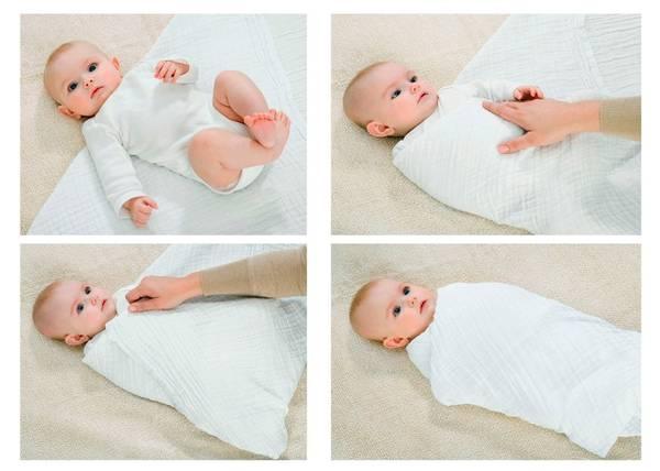 Как правильно пеленать новорожденного ребенка?