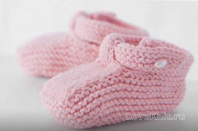 Пинетки на новорожденных для мальчика и девочки: схемы и описание