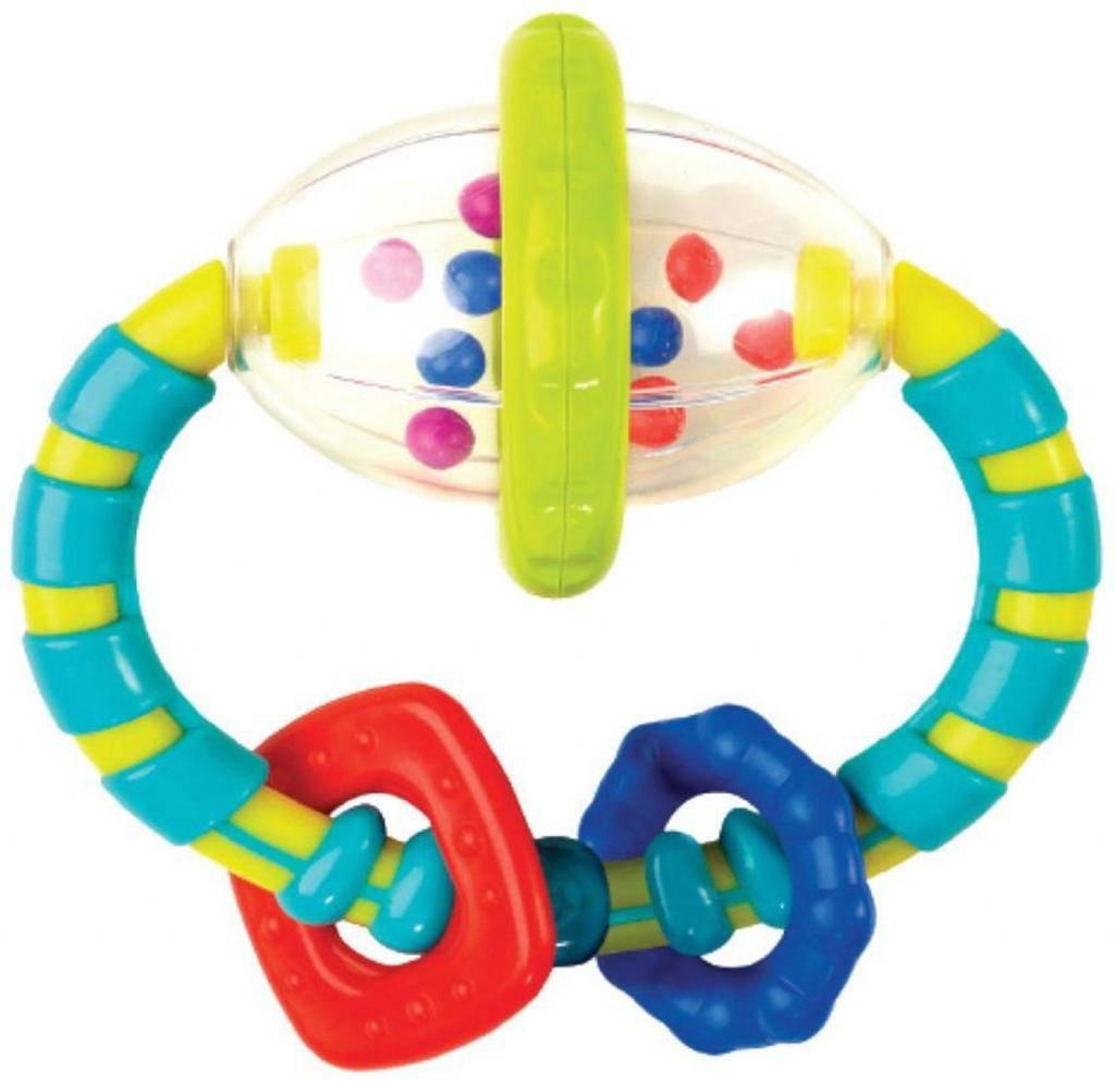 Когда малыш начинает следить глазками за яркой игрушкой и реагирует на звуки?