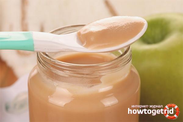 Яблочное пюре для грудничка: как приготовить дома