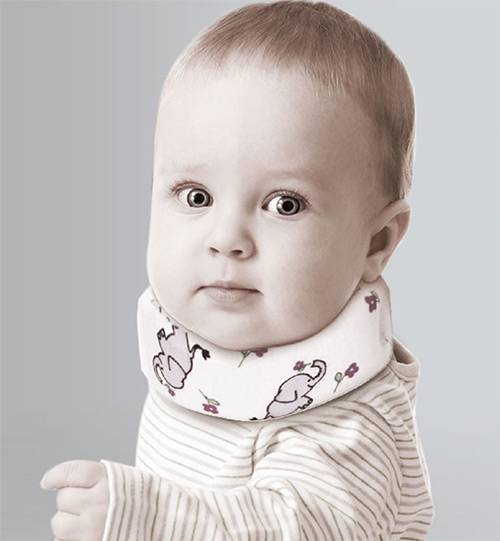 Воротник шанца для новорожденных: причины назначения шины и особенности ее применения