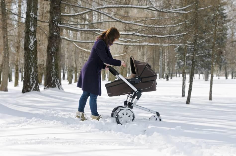 Как начинать гулять с новорожденным зимой?