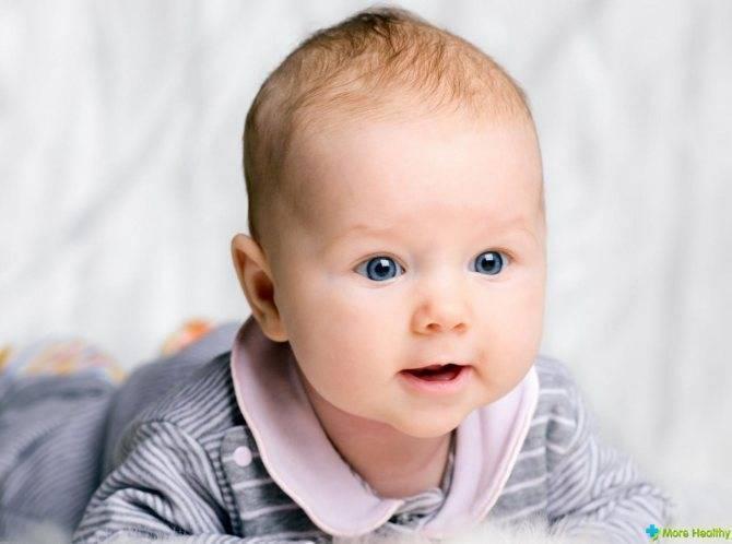Носогубный треугольник у ребенка — синий