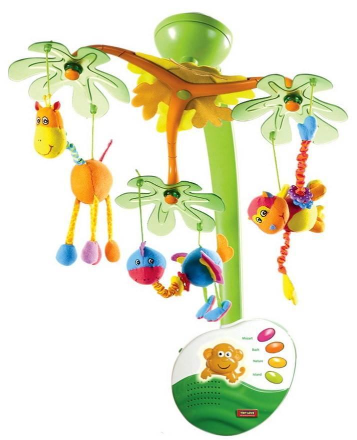 Игрушки и погремушки на кроватку для новорожденных (36 фото): детские музыкальные модели на бортики, мобиле на кровать