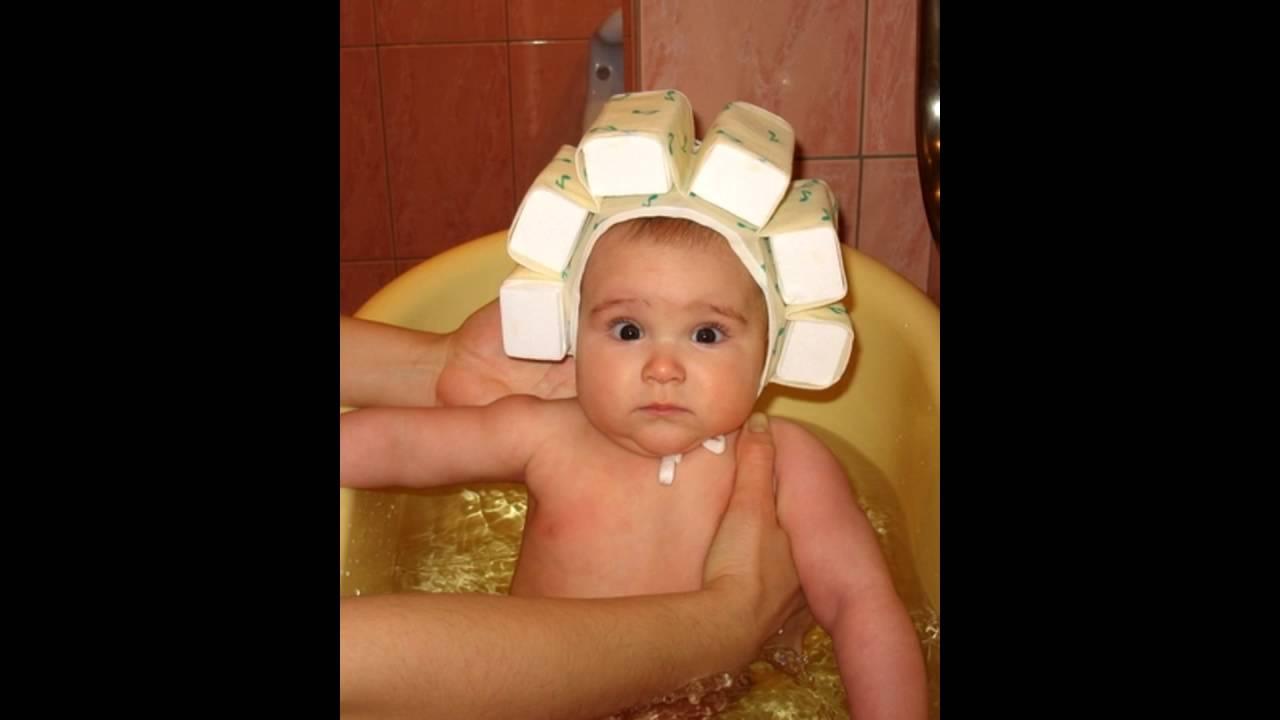 Шапочка для купания новорожденных детей!