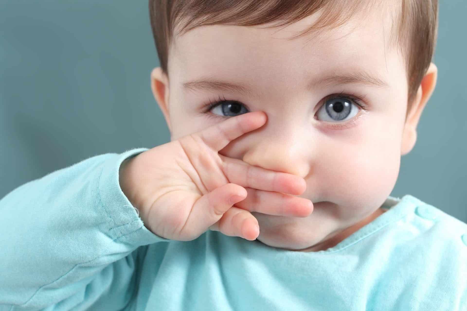 У грудничка заложен нос, но сопли не текут