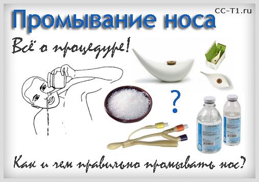 Как сделать раствор для промывания носа?
