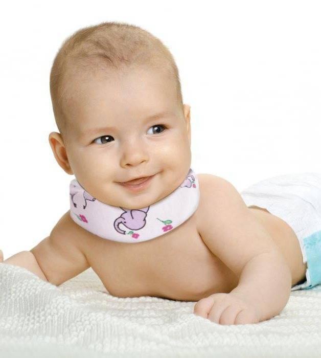 Воротник шанца для новорожденных