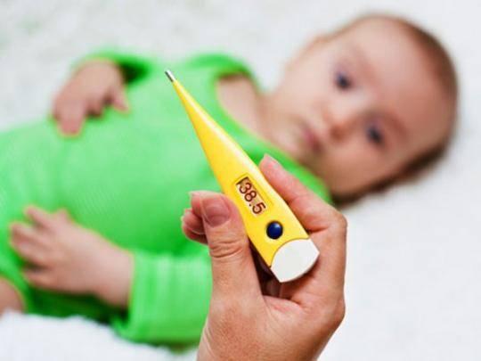 У малыша повышается температура до 40: что делать