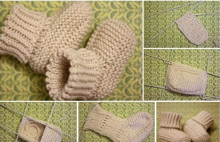 Пинетки для новорожденных спицами и крючком: схемы и описание + 130 фото