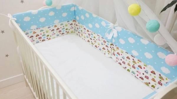 Как сшить бортики в кроватку для новорожденного своими руками