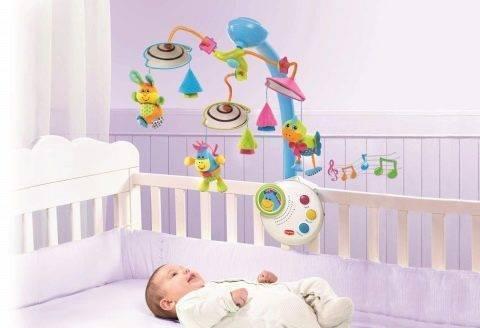 Игрушки на кроватку для новорожденных (60 фото): подвесные музыкальные погремушки