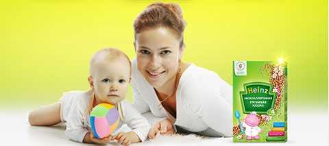 Ассортимент безмолочных детских каш для первого прикорма