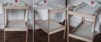 Комод с пеленальным столиком для новорожденных — виды моделей