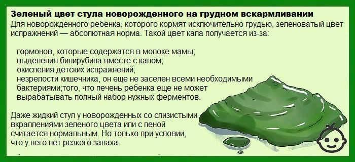 Кал зеленого цвета у ребенка