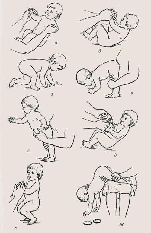 Развитие 8-месячного ребенка: игры, занятия, массаж и гимнастика