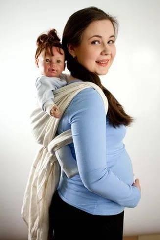 Как самой сделать слинг для новорожденных?