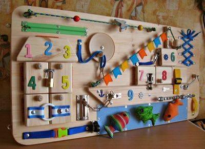 Бизиборд своими руками - пошаговая инструкция по созданию, фото идеи для мальчиков и девочек