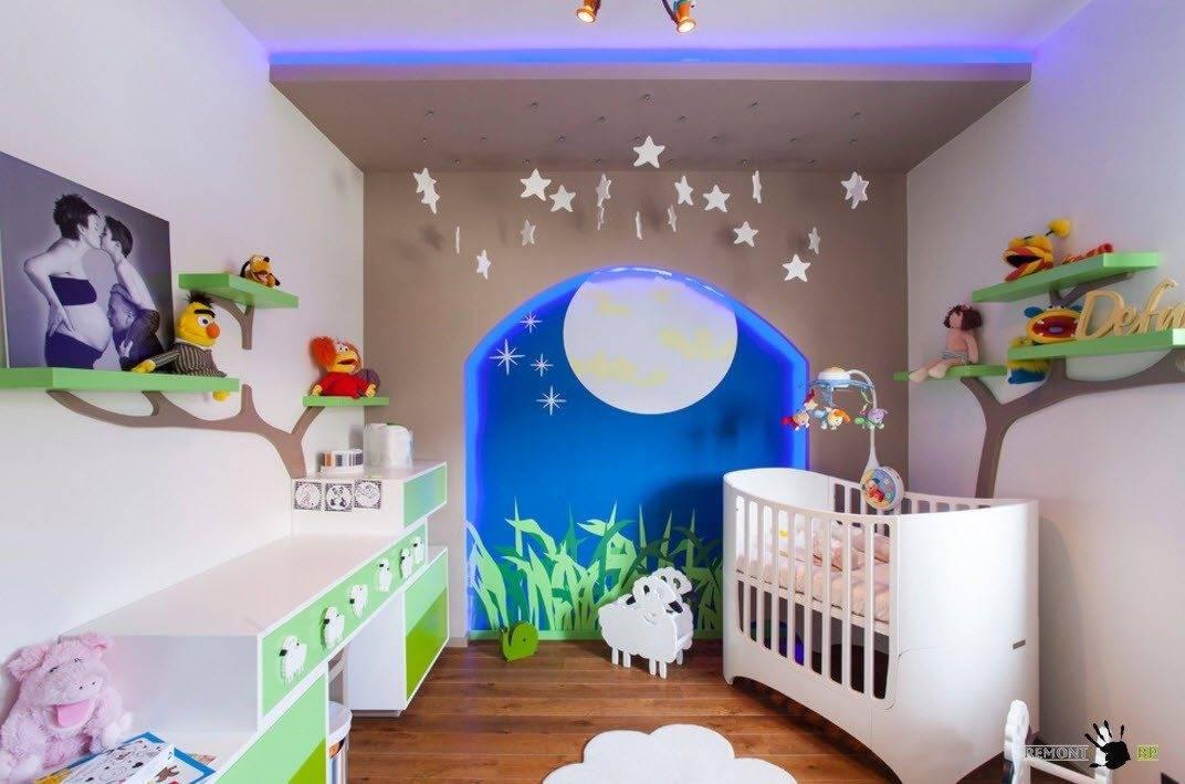 Делаем детский уголок в однокомнатной квартире — фото, дизайн, идеи