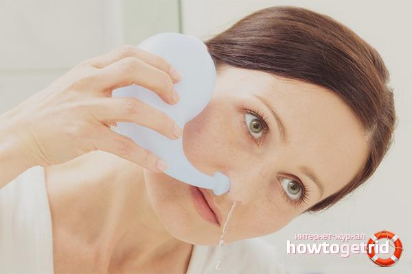 Промывание носа солевым раствором. как промыть нос солью?