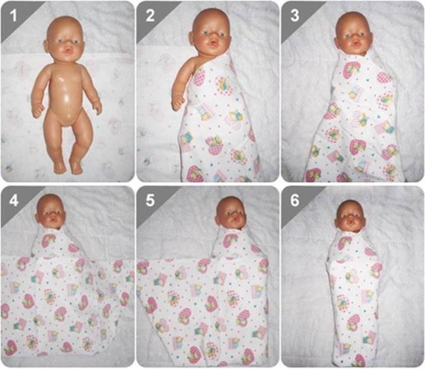 Пеленание новорожденного — алгоритм действий и лучшие способы