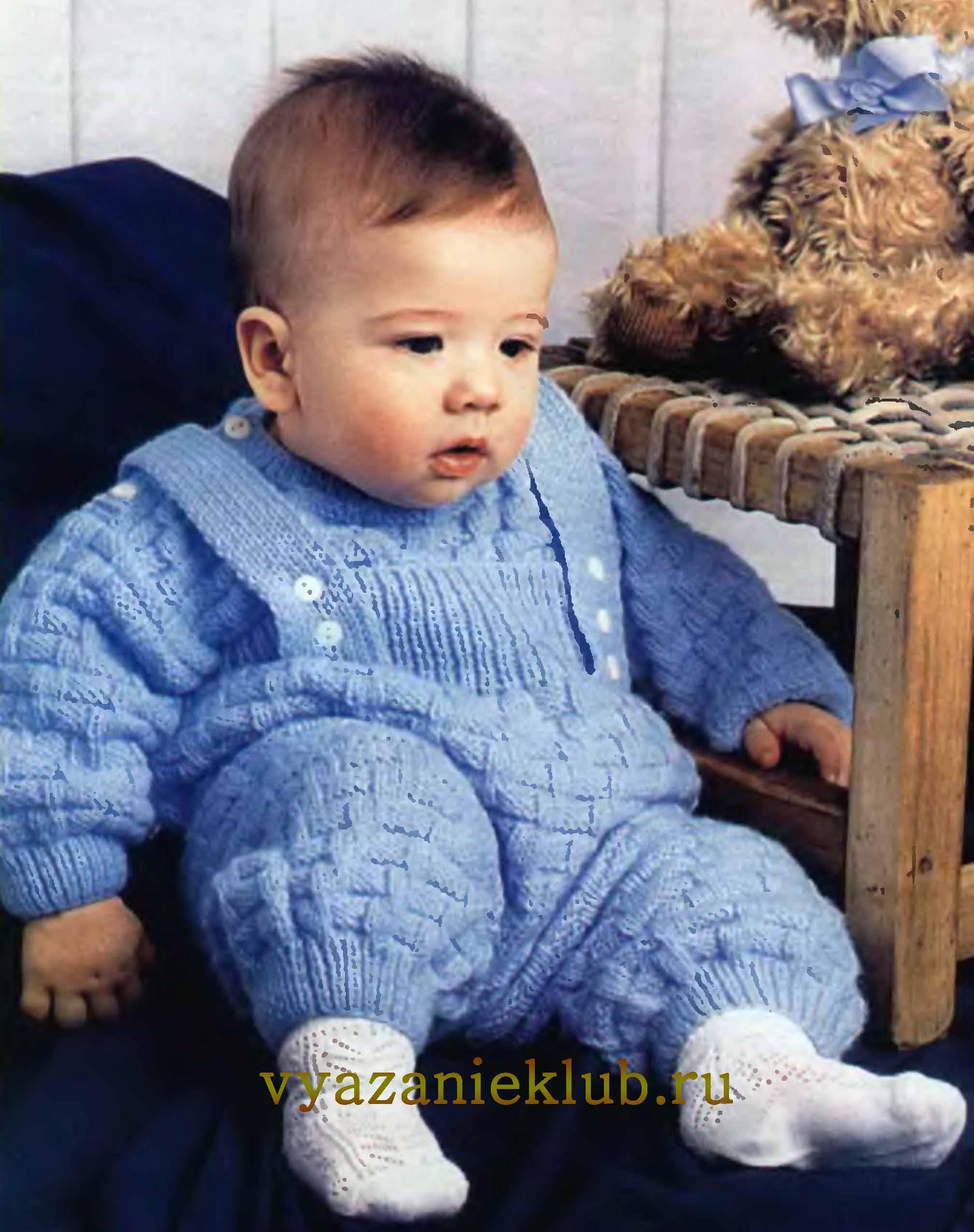 Практичная и удобная одежда для малышей своими руками: как связать костюм спицами для новорожденного 0-3 месяцев