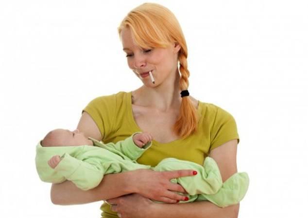 Курящая мама: пагубная привычка и грудное вскармливание