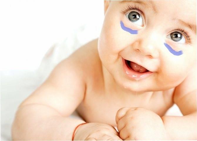 Почему у ребенка синий носогубный треугольник
