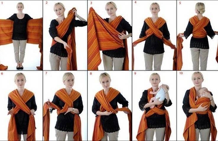 Как сшить слинг шарф своими руками видео
