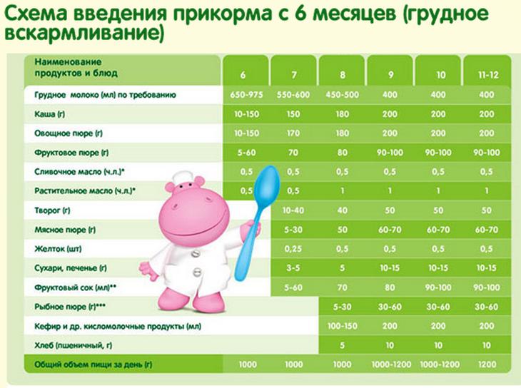 Очень подробная таблица введения прикорма - запись пользователя анюта (anyuta_ya) в дневнике - babyblog.ru