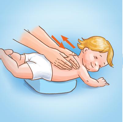 Как делать массаж малышу при кашле
