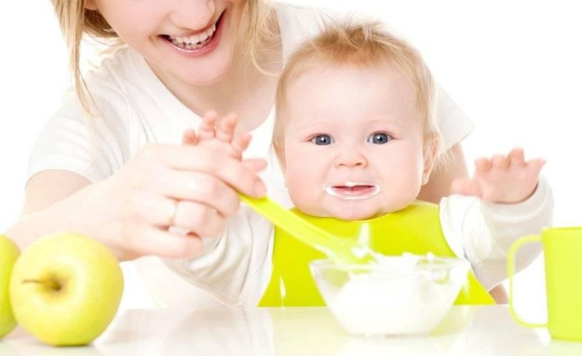 Введение в прикорм каши 5-ти месячному малышу