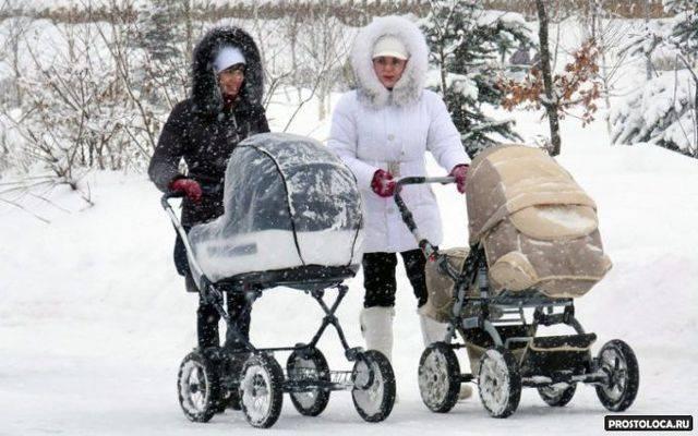 Когда и сколько гулять с новорожденным