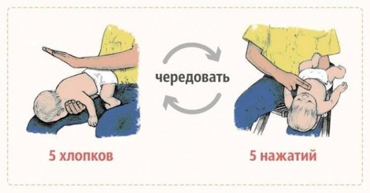 Что делать если младенец подавился