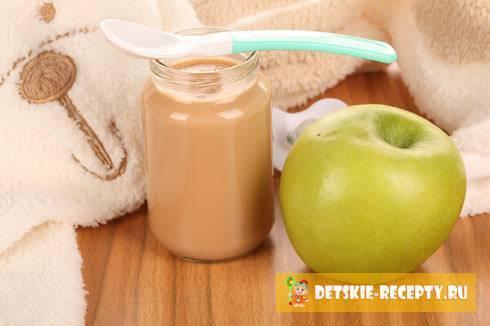 Яблочное пюре на зиму для детей