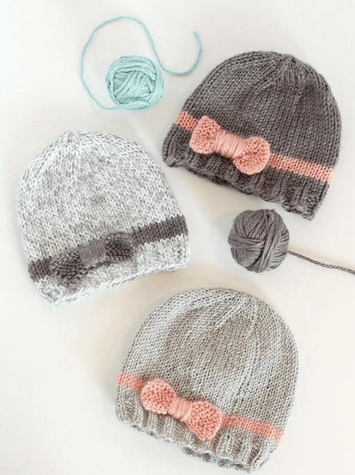 Подборка схем и узоров для вязания детских шапок с ушками