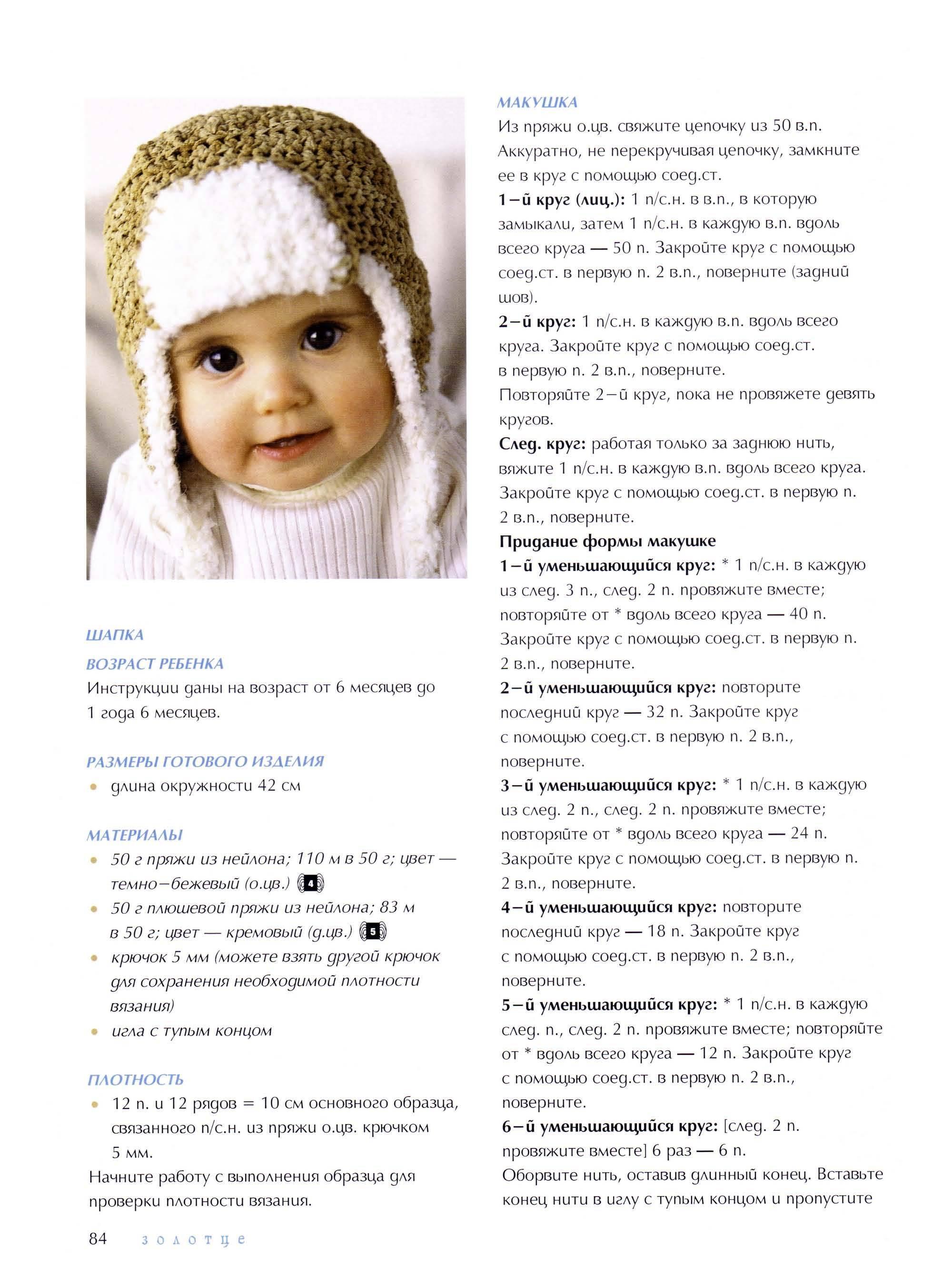 Вязание для новорожденных спицами с описанием и схемами, как связать детскую шапку и чепчик, видео