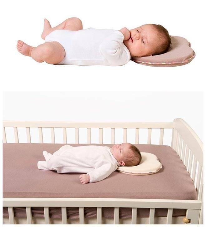 Ортопедическая подушка бабочка для новорожденных - как пользоваться