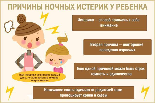 Почему ребенок плачет по ночам и капризничает