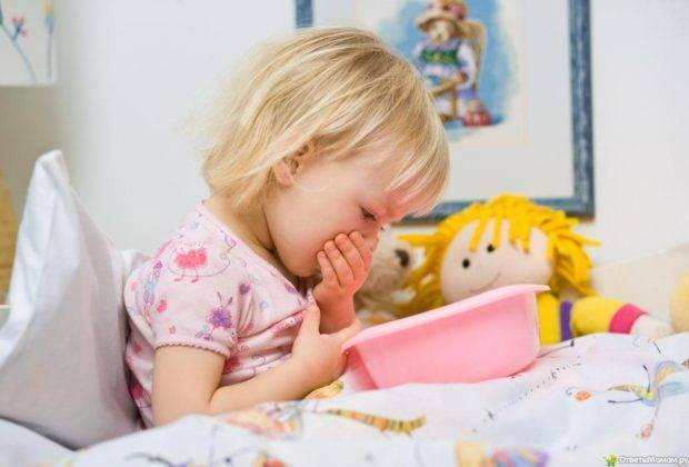 Рвота у ребенка: что делать, симптомы и причины, лечение, с желчью, кровью