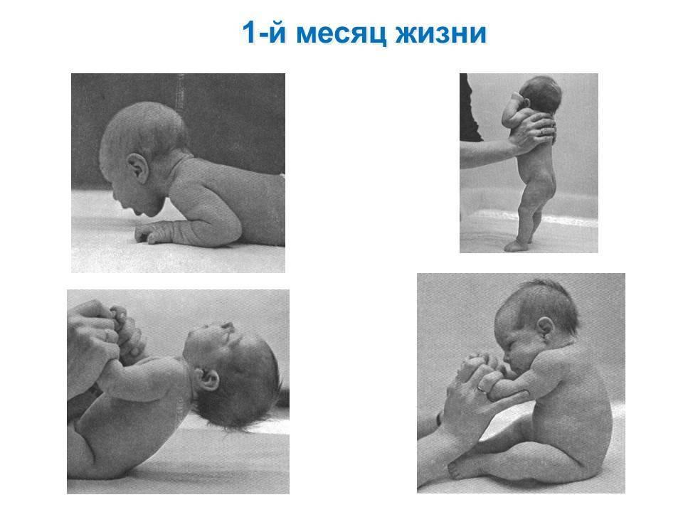 Психомоторное развитие ребенка в первые месяцы жизни