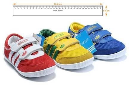 Таблица размеров детской обуви